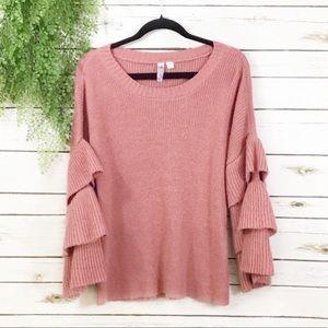 Alya ruffled sweater pink blush M